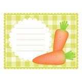 Card with carrots Royalty Free Stock Image