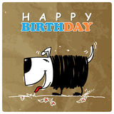 Card with cartoon doggy. Stock Images