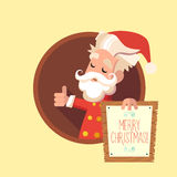 Card with cartoon Elf for Christmas and New Year party Stock Photography