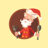 Card with cartoon Elf for Christmas and New Year party Royalty Free Stock Image