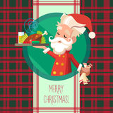 Card with cartoon Elf for Christmas and New Year party Royalty Free Stock Photography
