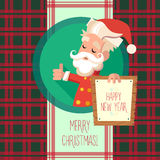 Card with cartoon Elf for Christmas and New Year party Stock Photo