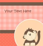 Card with cartoon monkey Royalty Free Stock Photography