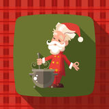 Card with cartoon Santa Claus for Christmas and New Year party Royalty Free Stock Image