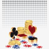 Card for casino, background poker  Royalty Free Stock Image