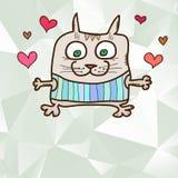 Card with cat Stock Photos
