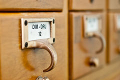 Card Catalog Royalty Free Stock Photography