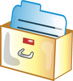 Card Catalog icon. Or symbol Stock Images