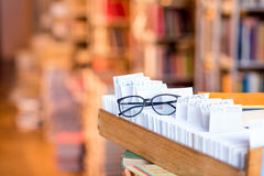 Card catalogue at the library Royalty Free Stock Images