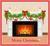 Card for the celebration of merry Christmas. Stock Photography