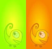 Card chameleon Stock Photos