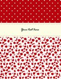 Card with cherries pattern Stock Images