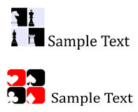 Card chess icons and logo Stock Photos