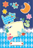 Card for children -  childish background. Royalty Free Stock Image