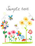Card with childrens drawings royalty free stock photos