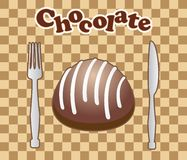 Card with chocolate candy Stock Photography