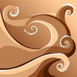 Card with chocolate wave. Stock Image