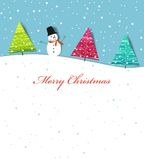 Card christmas. Vector template for a Christmas card Royalty Free Stock Photo