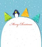 Card christmas. Vector template for a Christmas card Stock Images