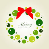 Card with Christmas balls Royalty Free Stock Image