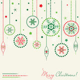 Card with Christmas balls Royalty Free Stock Photo