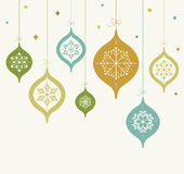 Card with Christmas balls Royalty Free Stock Images