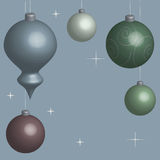 Card Christmas balls blue in 3D. Vector Royalty Free Stock Photography