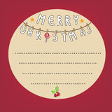Card Christmas cycle text box red background. Vector eps10 illustration Royalty Free Stock Photos