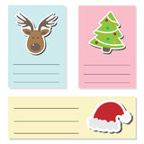 Card Christmas cycle text box red background. Vector eps10 illustration Stock Photography