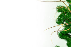 Card with Christmas decoration stock image
