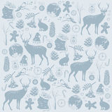 Card with Christmas deer Stock Images