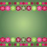 Card for Christmas design frame with snowflakes on Stock Photography