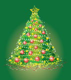 Card with a christmas fur-tree. Beautiful background with a christmas fur-tree Stock Photos