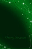 card christmas green Στοκ Εικόνες