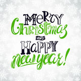 Card with Christmas greetings Royalty Free Stock Photo