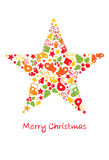 Card -- Christmas star Royalty Free Stock Photo