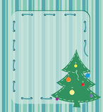 Card with Christmas tree. Postcard depicting the Christmas tree and the text field Royalty Free Stock Photos