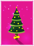 Card with Christmas tree Stock Photography