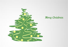 Card with Christmas tree Royalty Free Stock Photography