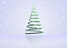 Card with Christmas tree Stock Image