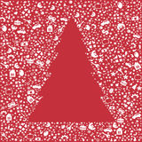 Card With Christmas Tree. Vector Royalty Free Stock Images
