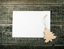 Card with  Christmas tree Royalty Free Stock Images
