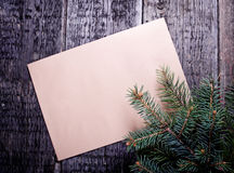 Card with  Christmas tree Royalty Free Stock Image