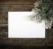 Card with  Christmas tree Stock Photos