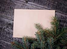 Card with  Christmas tree Stock Image