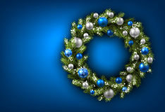 Card with Christmas wreath Royalty Free Stock Photo