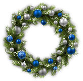 Card with Christmas wreath Royalty Free Stock Image