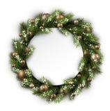 Card with Christmas wreath Royalty Free Stock Photos