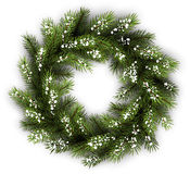 Card with Christmas wreath Royalty Free Stock Images