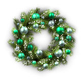 Card with Christmas wreath Stock Image